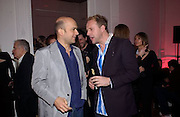 Marc Quinn and Simon Mills, Vogue party to celebrate a special issue. Il Bottaccio, Grosvenor Place. 10 April 2003. © Copyright Photograph by Dafydd Jones 66 Stockwell Park Rd. London SW9 0DA Tel 020 7733 0108 www.dafjones.com