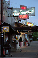 Front entrance to the Continental Club, Austin, TX