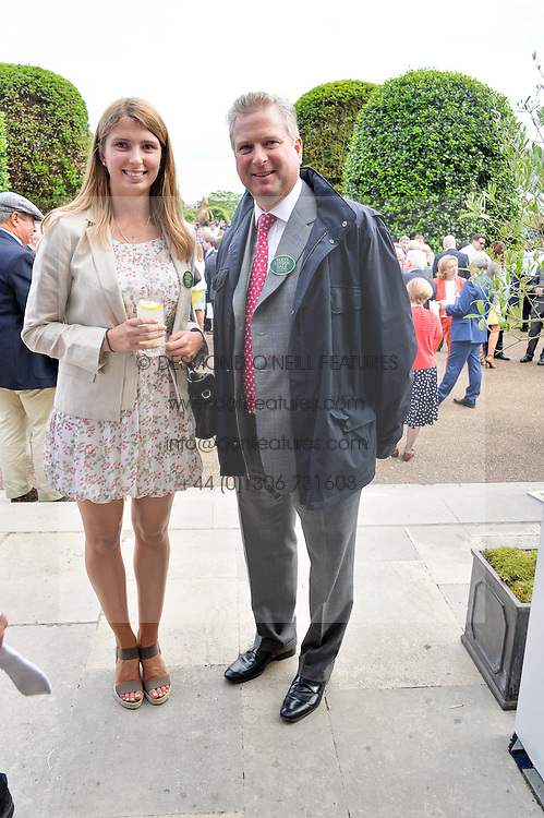 WILLIAM ASPREY and his daughter EMILY ASPREY at Goffs London Sale held at The Orangery, Kensington Palace, London on 15th June 2015.