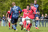 23-04-2016: Voetbal: Sportlust'46 v Zwaluwen: Woerden<br /> <br /> Duel tijdens de wedstrijd<br /> <br /> Foto: Gertjan Kooij