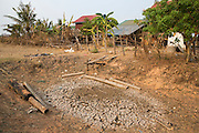 A watering hole during the dry season in the village of in Banteay Char, near Battambang, Cambodia.