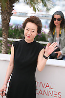 Youn Yuh-jung, at The Taste of Money photocall at the 65th Cannes Film Festival France. Saturday 26th May 2012 in Cannes Film Festival, France.
