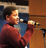 Tory White, from Dayton View Academy was the first one eliminated at the 2007 Regional Spelling Bee, at Sinclair Community College, Saturday morning.