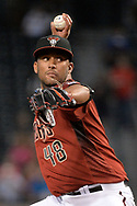 PHOENIX, AZ - MAY 24:  Randall Delgado #48 of the Arizona Diamondbacks delivers a pitch in the first inning against the Chicago White Sox at Chase Field on May 24, 2017 in Phoenix, Arizona. The Arizona Diamondbacks won 8-6.  (Photo by Jennifer Stewart/Getty Images)