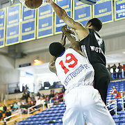 Austin Toros Guard Charlie Westbrook (7) posterized Delaware 87ers Forward Thanasis Antetokounmpo (19) in the course of a NBA D-league regular season basketball game between the Delaware 87ers (76ers) and the Austin Toros (Spurs) Monday, Jan. 27, 2014 at The Bob Carpenter Sports Convocation Center, Newark, DE