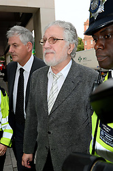 David Lee Travis in Court. <br /> Former BBC Radio 1 DJ David Lee Travis arrives in court for alleged indecent assault charges, Westminster Magistrates' Court, London, United Kingdom. Thursday, 3rd October 2013. Picture by Ben Stevens / i-Images
