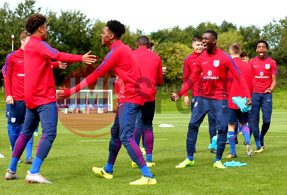 England Under 19s take part in training ahead of the International Friendlies against Poland and Germany - Mandatory by-line: Robbie Stephenson/JMP - 31/08/2017 - FOOTBALL - England U19 - Training session ahead of international friendlies against Poland and Germany