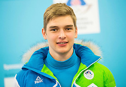 Nace Znidarsic during presentation of Slovenian Young Athletes before departure to EYOF (European Youth Olympic Festival) in Vorarlberg and Liechtenstein, on January 21, 2015 in Bled, Slovenia. Photo by Vid Ponikvar / Sportida