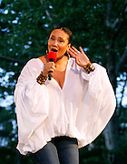 Monique Bingham performs at SummerStage on Rumsey Playfield in Central Park in New York City, New York on June 15, 2014.