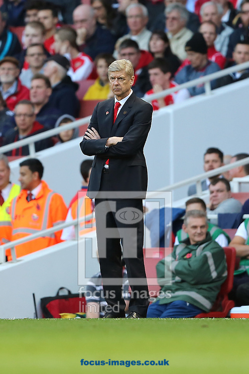 Manager of Arsenal, Arsene Wenger during the Barclays Premier League match against Burnley at the Emirates Stadium, London<br /> Picture by Richard Calver/Focus Images Ltd +447792 981244<br /> 01/11/2014