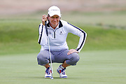 Catrina Mathew  surveys her putt during the Ricoh Women's British Open golf tournament at Royal Lytham and St Annes Golf Club, Lytham Saint Annes, United Kingdom on 4 August 2018. Picture by Simon Davies.