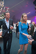 ROBERT KALFF; LINA LIUBERTAITE, Gabrielle's Gala 2013 in aid of  Gabrielle's Angels Foundation UK , Battersea Power station. London. 2 May 2013.