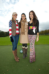 Miss Sweden Nicoline ARTURSSON, Miss Spain Carla GARCIA BARBER. and Miss Guatemala Lourdes FIGUEROA...The Miss World participants play golf at the world famous Gleneagles Hotel, host of The Ryder Cup 2014..MISS WORLD 2011 VISITS SCOTLAND..Pic © Michael Schofield.