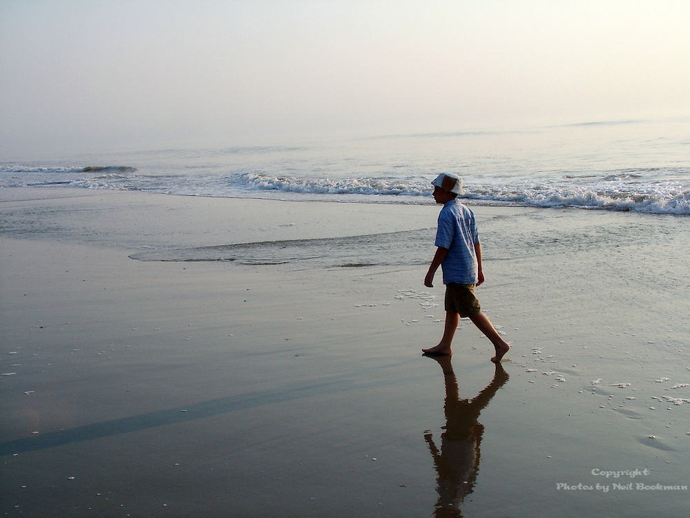 This is a shot of my son walking on a beach in the Outer Banks in North Carolina.