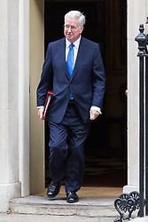 London, October 17 2017. Defence Secretary Michael Fallon leaves the UK cabinet meeting at Downing Street. © Paul Davey