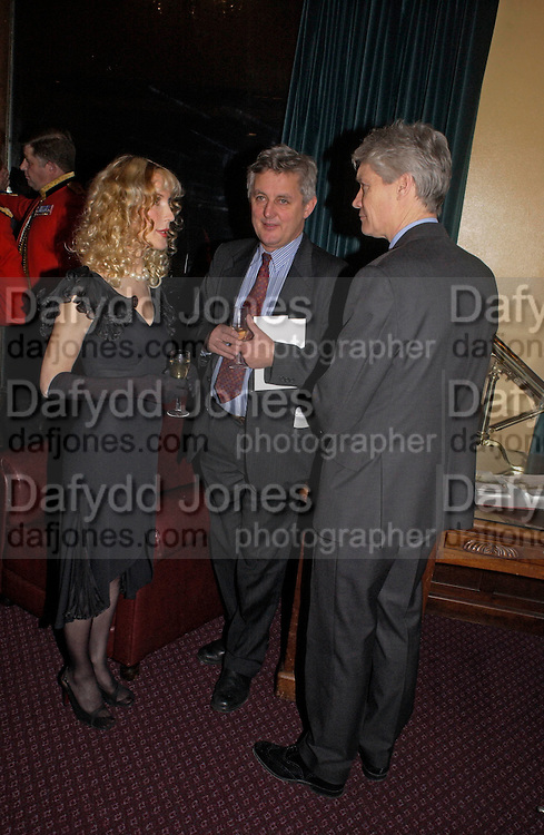 Basia Briggs, James Hughes-Onslow and Richard KayJames Hughes-Onslow and Richard Kay, Reception to support the Hyde Park Appeal for Liberty Drives ( a charity which enables people to travel around Hyde Park in electric buggies) in the presence of Prince Michael of Kent. Officers Mess. Household Cavalry Mounted Regiment. Hyde Park Barracks. 30 November 2004. ONE TIME USE ONLY - DO NOT ARCHIVE  © Copyright Photograph by Dafydd Jones 66 Stockwell Park Rd. London SW9 0DA Tel 020 7733 0108 www.dafjones.com