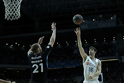 April 29, 2018 - Madrid, Madrid, Spain - SANTIAGO YUSTA  of Real Madrid in action during a Liga Endesa Basketball game between Estudiantes and Real Madrid, at the Palacio de los Deportes, in Madrid, Spain, 29 April 2018. (Credit Image: © Oscar Gonzalez/NurPhoto via ZUMA Press)