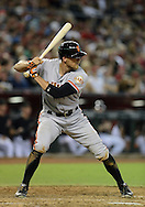 PHOENIX, AZ - JUNE 08:  Outfielder Hunter Pence #8 of the San Francisco Giants at bat against the Arizona Diamondbacks at Chase Field on June 8, 2013 in Phoenix, Arizona. The Giants defeated the Diamondbacks 10-5.  (Photo by Jennifer Stewart/Getty Images) *** Local Caption *** Hunter Pence
