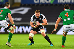 Bradley Davies of Ospreys in action during todays match<br /> <br /> Photographer Craig Thomas/Replay Images<br /> <br /> Guinness PRO14 Round 4 - Ospreys v Benetton Treviso - Saturday 22nd September 2018 - Liberty Stadium - Swansea<br /> <br /> World Copyright © Replay Images . All rights reserved. info@replayimages.co.uk - http://replayimages.co.uk