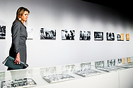 ROTTERDAM -  - Queen Maxima during  a working visit to the Nederlands Fotomuseum. During the visit, the full with of the work of the Photo Museum is central. ROBIN UTRECHT
