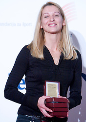Tina Jurcak (AD Kladivar) at Best Slovenian athlete of the year ceremony, on November 15, 2008 in Hotel Lev, Ljubljana, Slovenia. (Photo by Vid Ponikvar / Sportida)