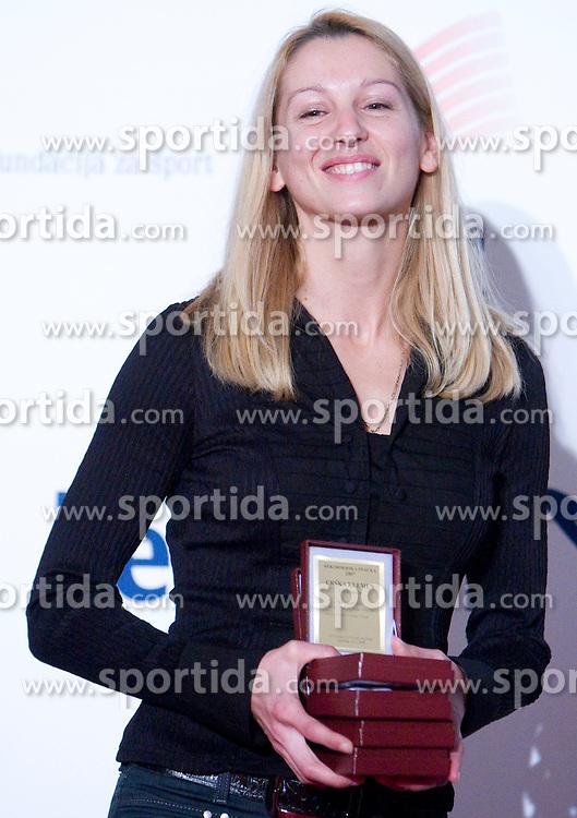 Tina Jurcak (AD Kladivar) at Best Slovenian athlete of the year ceremony, on November 15, 2008 in Hotel Lev, Ljubljana, Slovenia. (Photo by Vid Ponikvar / Sportida)