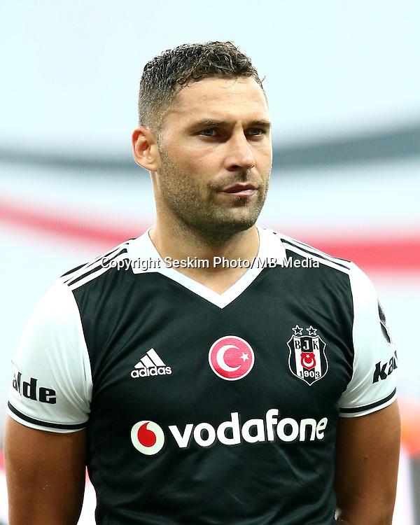 Turkey superlig match between Besiktas and Alanyaspor at Vodafone Arena in Istanbul , Turkey on August 20 , 2016.<br /> Final Score : Besiktas 4 - Alanyaspor 1<br /> Pictured: Dusko Tosic of Besiktas.