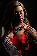 LOS ANGELES, CA - OCTOBER 22, 2016:  <br /> <br /> Bella Beautiful (Florida) poses for a portrait at the Transnation Queen USA 2016 pageant, a transgender beauty pageant held at The Theater at The Ace Hotel in downtown Los Angeles.<br /> <br /> (Melissa Lyttle for The Guardian)