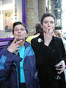 Gabriella Ciaramelli and Kate Andrews. the new Urbanites. Catto Contemporary. 23 May 2002. © Copyright Photograph by Dafydd Jones 66 Stockwell Park Rd. London SW9 0DA Tel 020 7733 0108 www.dafjones.com
