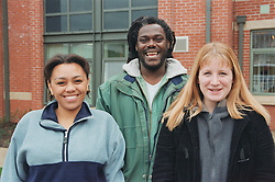 Multiracial group of residents of homeless hostel,