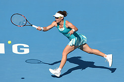 BEIJING, Oct. 4, 2017  Samantha Stosur of Australia returns the ball during the women's singles second round match against Jelena Ostapenko of Latvia at 2017 China Open tennis tournament in Beijing, capital of China, Oct. 4, 2017. Jelena Ostapenko won 2-0. (Credit Image: © Ju Huanzong/Xinhua via ZUMA Wire)