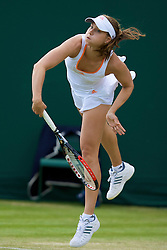 LONDON, ENGLAND - Wednesday, June 25, 2008: Ashley Harkleroad (USA) during her first round doubles match on day three of the Wimbledon Lawn Tennis Championships at the All England Lawn Tennis and Croquet Club. (Photo by David Rawcliffe/Propaganda)