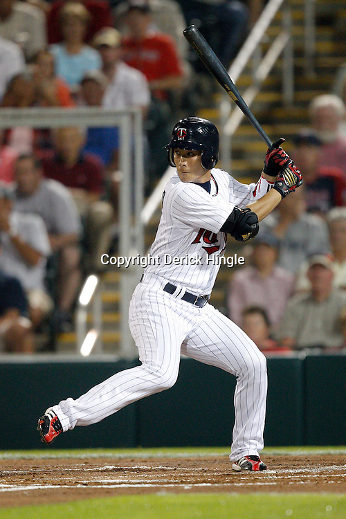 February 27, 2011; Fort Myers, FL, USA; Minnesota Twins second baseman Tsuyoshi Nishioka (1) during a spring training exhibition game against the Boston Red Sox at Hammond Stadium.  Mandatory Credit: Derick E. Hingle