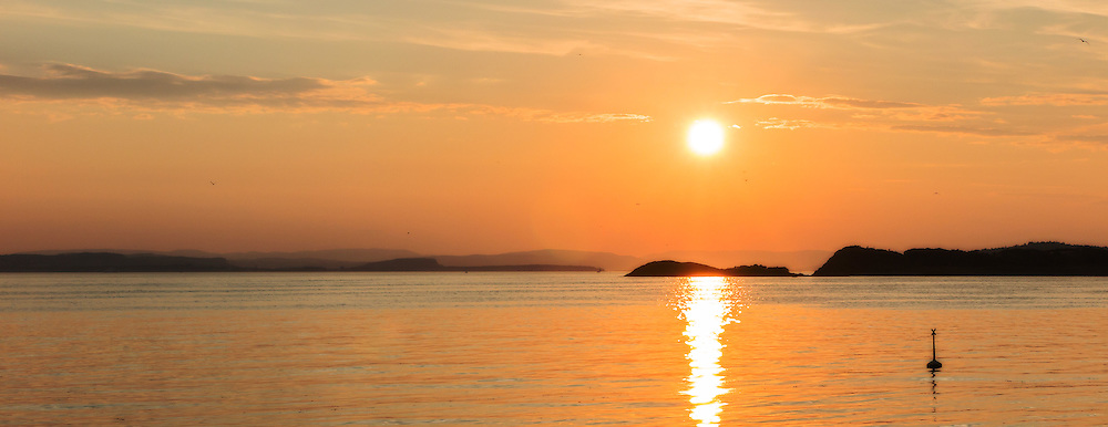 Sunset over Oslofjord, Moss Norway
