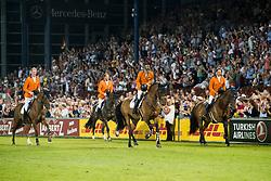 Van der Vleuten Maikel, Van Asten Leopold, Houtzager Marc, Schuttert Frank, NED, <br /> CHIO Aachen 2018<br /> © Hippo Foto - Sharon Vandeput<br /> 19/07/18