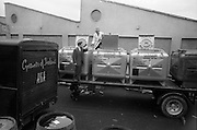 24/05/1966<br /> 05/24/1966<br /> 24 May 1966<br /> Grants of Ireland Ltd. wine bottling plant at Chapelizod, Dublin. Truck with tanks for wine transport. The wine being tasted.