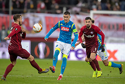 14.03.2019, Red Bull Arena, Salzburg, AUT, UEFA EL, FC Red Bull Salzburg vs SSC Napoli, Achtelfinale, Rückspiel, im Bild v.l. Andreas Ulmer (FC Salzburg), José Callejón (SSC Napoli), Simone Verdi (SSC Napoli) // during the UEFA Europa League round of 16, 2nd leg match between FC Red Bull Salzburg and SSC Napoli at the Red Bull Arena in Salzburg, Austria on 2019/03/14. EXPA Pictures © 2019, PhotoCredit: EXPA/ Johann Groder