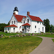 &quot;Summer at Point Iroquois&quot; <br /> <br /> Beautiful Point Iroquois Light Station on Lake Superior. A wonderful lighthouse in Michigan's Upper Peninsula!