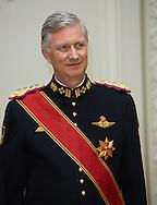 Brussels,  08-3-2016 <br /> <br /> State Visit of President Gauck of Germany to Belgium.<br /> <br /> <br /> State Banquet at Laken Palace<br /> <br /> <br /> <br /> <br /> <br /> Copyright: Royalportraits Europe/Bernard Ruebsamen