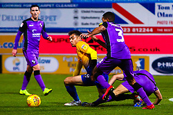 Tyler Walker of Mansfield Town attempts to regain possession - Mandatory by-line: Ryan Crockett/JMP - 17/11/2018 - FOOTBALL - One Call Stadium - Mansfield, England - Mansfield Town v Port Vale - Sky Bet League Two