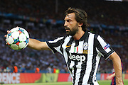 Andrea Pirlo of Juventus during the Champions League Final between Juventus FC and FC Barcelona at the Olympiastadion, Berlin, Germany on 6 June 2015. Photo by Phil Duncan.