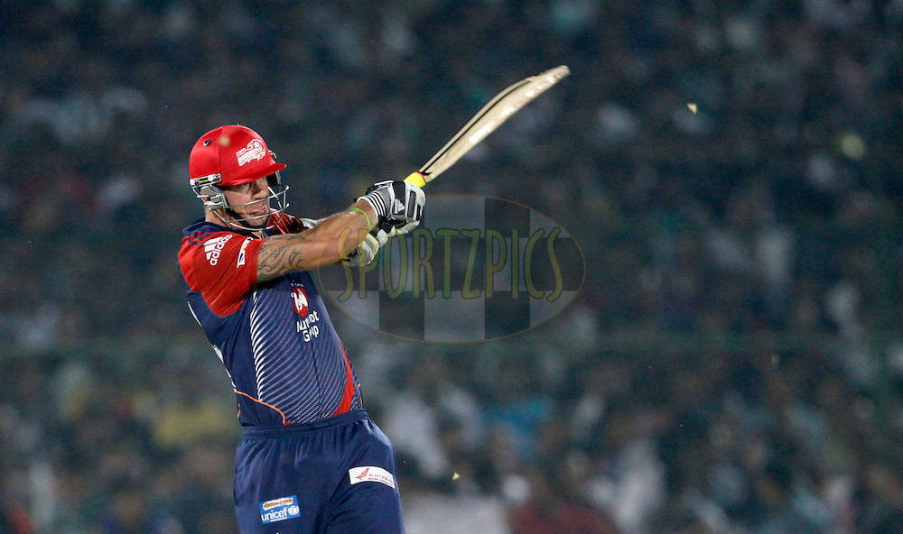 Delhi Daredevils player Kevin Pietersen play a shot during match 43 of the the Indian Premier League ( IPL) 2012  between The Rajasthan Royals and the Delhi Daredevils held at the Sawai Mansingh Stadium in Jaipur on the 1st May 2012..Photo by Pankaj Nangia/IPL/SPORTZPICS