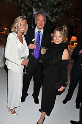 Left to right, LADY BAMFORD and SIR MARK & LADY WEINBERG at a dinner hosted by Cartier following the following the opening of the Chelsea Flower Show 2012 held at Battersea Power Station, London on 21st May 2012.