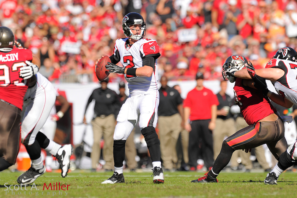 Atlanta Falcons quarterback Matt Ryan (2) during the Falcons game against the Tampa Bay Buccaneers game at Raymond James on November 25, 2012 in Tampa, Florida.  Atlanta won 24-23...©2012 Scott A. Miller.