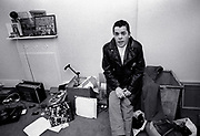 Ian Dury and the Blockheads - backstage 1979 tour.