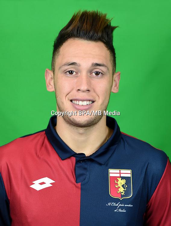 Italian League Serie A -2016-2017 / <br /> ( Genoa CFC ) - <br /> Lucas Ariel Ocampos &quot; Lucas Ocampos &quot;
