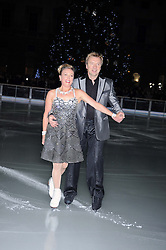 JANE TORVILL & CHRISTOPHER DEAN at the opening of the Somerset House ice Rink for 2008 sponsored by Tiffany & Co held at Somerset House, The Strand, London on 18th November 2008.