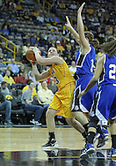 December 20, 2011: Iowa Hawkeyes guard Kathryn Reynolds (33) eyes the basket as Drake Bulldogs guard Carly Grenfell (1) defends during the NCAA women's basketball game between the Drake Bulldogs and the Iowa Hawkeyes at Carver-Hawkeye Arena in Iowa City, Iowa on Tuesday, December 20, 2011. Iowa defeated Drake 71-46.