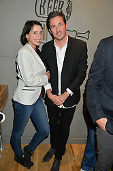 DAVE GARDNER and SADIE FROST at a party to celebrate the launch of Top Dog at 48 Frith Street, Soho, London on 27th May 2015
