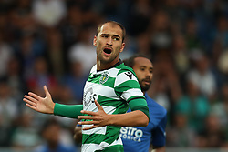 September 8, 2017 - Santa Maria Da Feira, Aveiro, Portugal - Sporting's Netherlands forward Bas Dost reacts during the Premier League 2017/18 match between CD Feirense and Sporting CP, at Marcolino de Castro Stadium in Santa Maria da Feira on September 8, 2017. (Credit Image: © Dpi/NurPhoto via ZUMA Press)